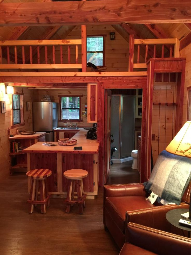 Cabin Interiors On Pinterest Tiny Cabins Tiny House Cabin And Small