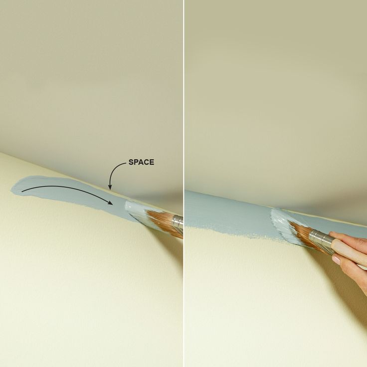 Work Up to the Line When cutting in against a ceiling, molding or other surface…