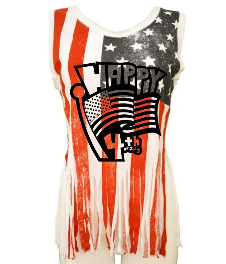 Happy 4th of july Women's Shredded Us Flag July 4th Tanktop