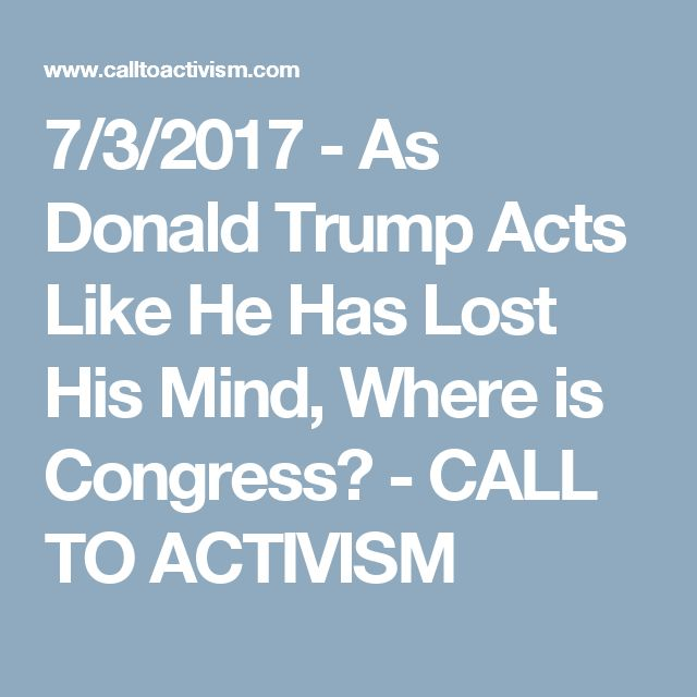 Congress must ACT now, before it's too late.