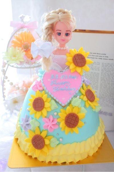 ドールケーキ エリーちゃんドールケーキ ひまわりケーキ by あやもこ ...
