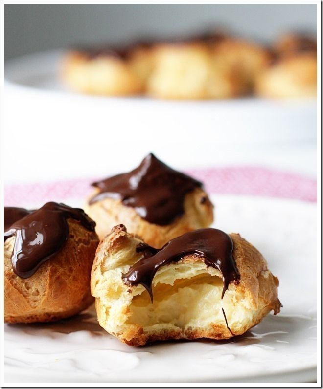 How to throw a French Dinner Party | Food & Drinks | Learnist. Chocolate Profiteroles stuffed with vanilla cream