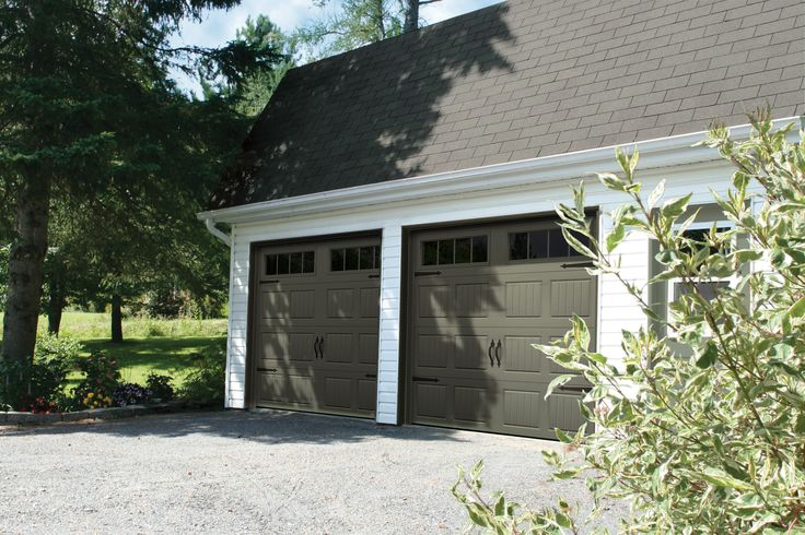 Garage Door Model : North Hatley Carriage Style, Dark Sand, Get a FREE QUOTE : http://www.automateddoorsystems.com/ca/get-a-quotation