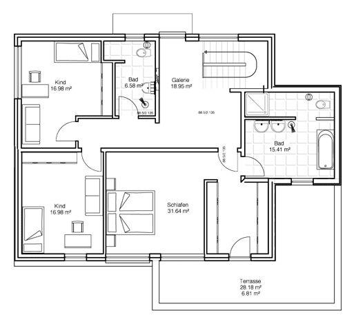 1130 best hauspl ne images on pinterest floor plans for Stadtvilla plan