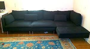 Znalezione obrazy dla zapytania SÖDERHAMN Three-seat sofa and chaise longue, Samsta dark grey