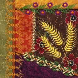 Machine Embroidery Crazy Quilt Block. I love crazy quilts. Gotta make one sometime soon.