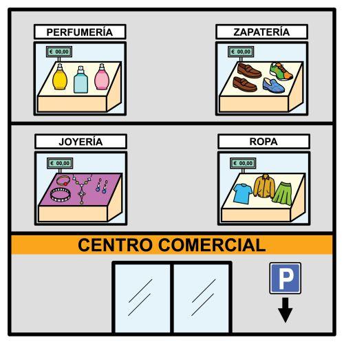 Pictogramas ARASAAC - Centro comercial.