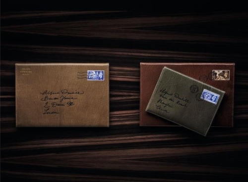 Personalized Goatskin Travel Wallet by Dunhill.