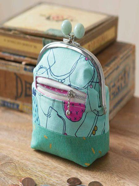 Gamaguchi Coin Purse Sewing Pattern Download