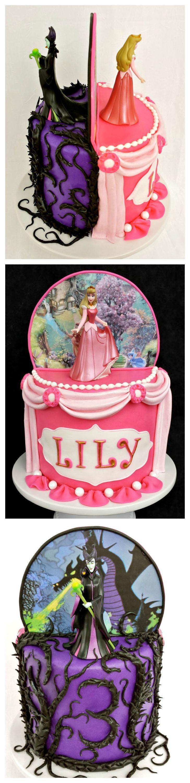 Sleeping Beauty (Aurora/Maleficent) Cake Tutorial