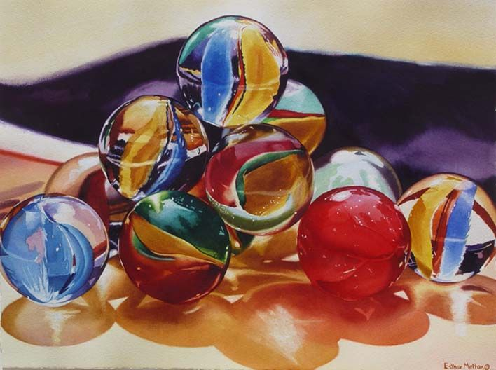 """Esther Melton- """"Cateyes""""- Watercolor"""