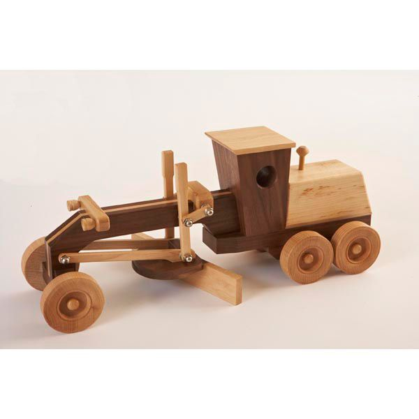 Motor Grader — Whether smoothing a path across the carpet, or making lines in the sandbox, this blade runner works hard showing off your craftsmanship. The blade lifts and pivots, but the engine noises are up to the operator.