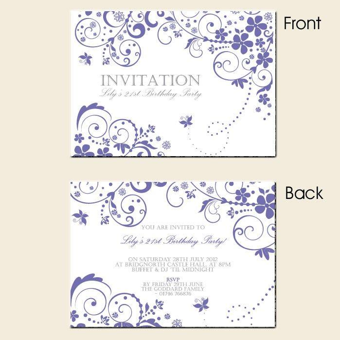 21st Invitation Templates