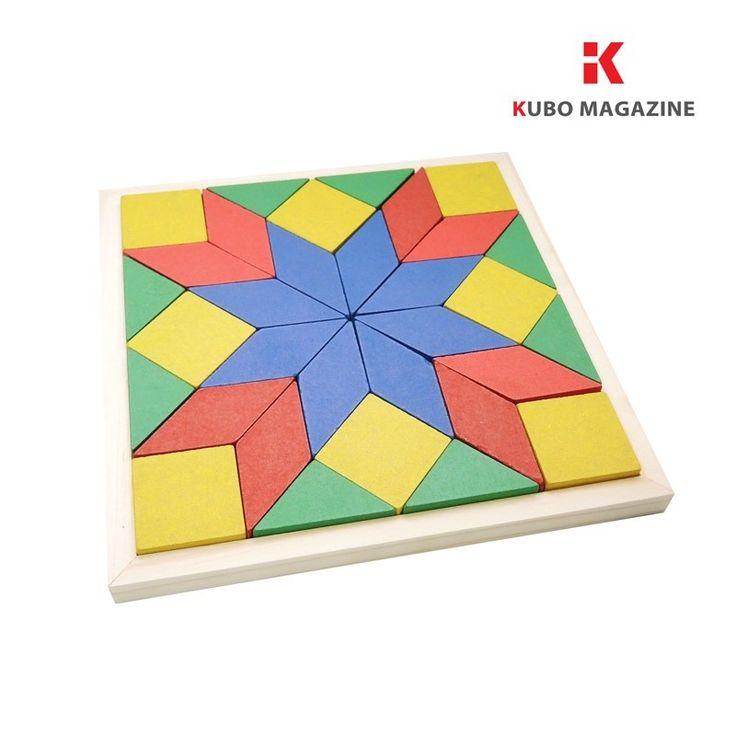 Mosaico Quebra Cabeça Brinquedo Educativo Pedagogico Madeira - R$ 29,99 no MercadoLivre