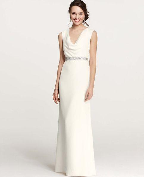 Ann Taylor Collection. Perfect for Second Wedding Dresses. | I Do Take Two #secondweddingdress #teamwedding