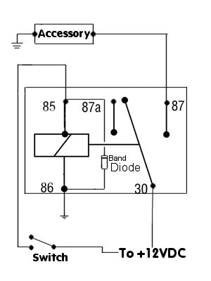 positive switched relay schematic diagram car audio