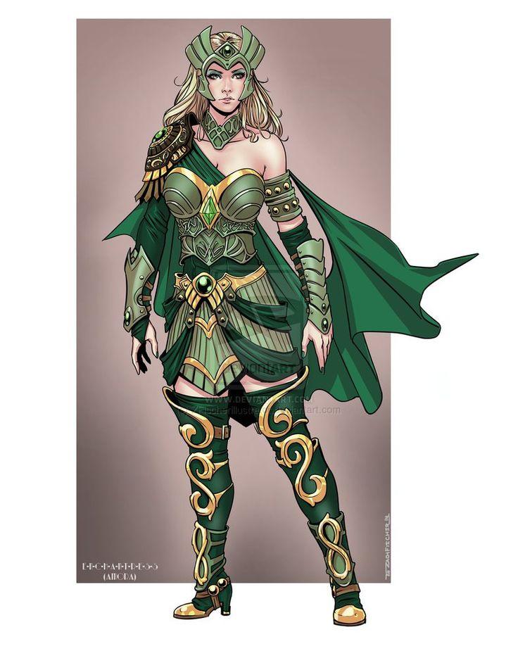 Enchantress (Amora) custom design by ZFischerillustrator