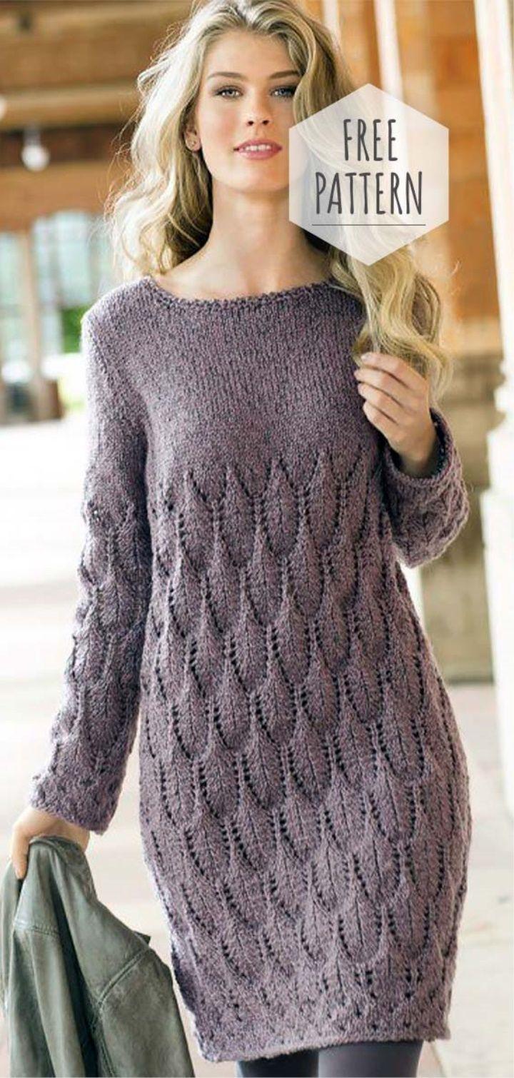 Knit Tunic Free Pattern Knitteddress Club Hashtags Knit Dress Sweater Dress Hand Knitted Dress [ 1510 x 720 Pixel ]