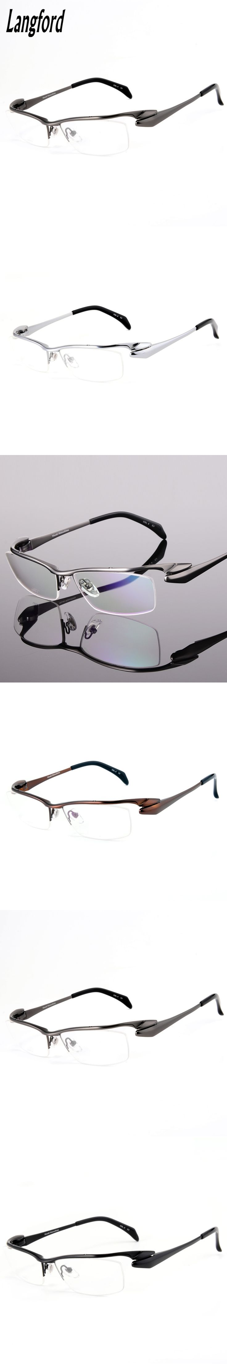 High-end pure titanium eyeglasses frame men optical glasses eyeware frame spectacle frames designs Streamline browline glasses