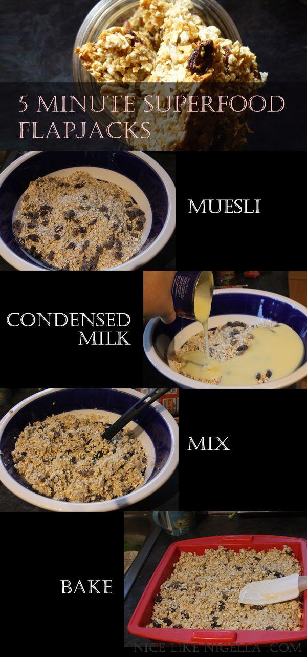 5 minute superfood flapjack recipe #recipes #bar #snack
