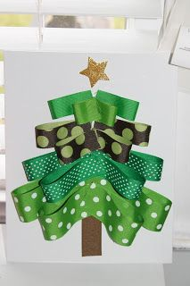 the chirping moms: Holiday Crafting for Moms: Ribbon Tree and JOY letters!
