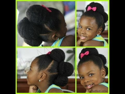 Natural hair Kids|Easy Hairstyle - YouTube