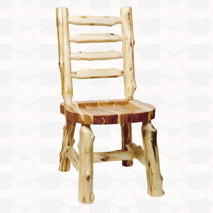 Fireside Lodge Furniture Cedar Ladder-Back Log Side #DiningChair #rustic #rusticfurniture      http://www.santaferanch.com/
