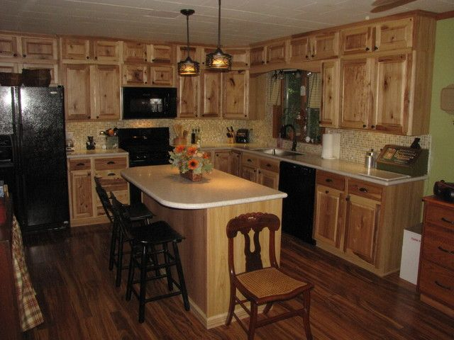 Rustic Kitchen Cabinets Lowes: Denver Hickory Stock Sweigart Traditional  Kitchen Other Metro