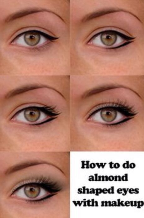Different eye liner looks for almond eyes!