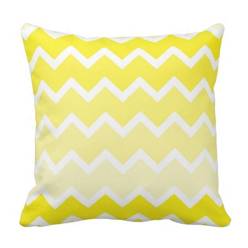 Yellow ombre chevron throw pillow #decampsudios