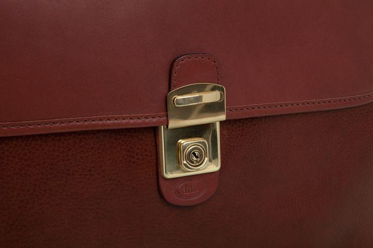 Cathy Prendergast Irish Designer Leather Handbags - Oscar Briefcase | Tan Leather Briefcase
