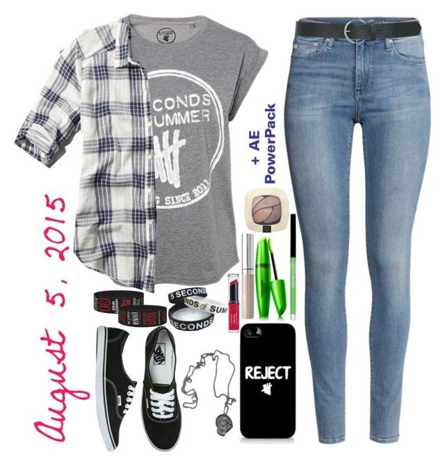 """""""Similar Outfit to the Outfit I Wore to 5sos Atlanta-August 5,2015"""" by bekahliz ❤ liked on Polyvore featuring moda, Revlon, Abercrombie & Fitch, Vans, H&M, Samsung, COVERGIRL, L'Oréal Paris ve M&Co"""