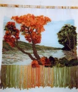 el rio tapiz lana,algodón,yute tapiz alto lizo
