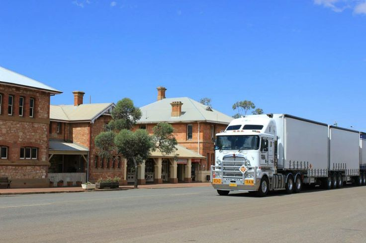 Golden Outback cities - few houses, big road trains passing... Picture taken in Coolgardie, Western Australia