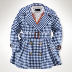 Gingham Trench Coat - Girls 2-6X Outerwear & Jackets - RalphLauren.com