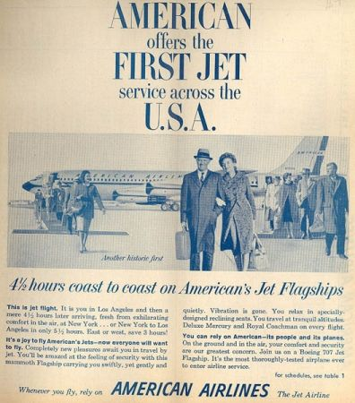 American Airlines Sales Brochures, History and Memorabilia:    American Airlines History, Sales Brochures, and Memorabilia from 1935 to the present including rare Welcome Aboard Guides, advertisements, post cards, and more.
