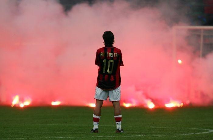 Ac Milan Rui Costa N°10 | Lendas do futebol, Futebol mundial, Futebol