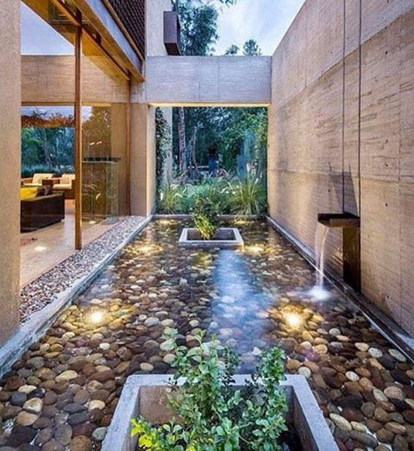 20 Modern And Impressive Indoor Pond Design Feels Outdoor With