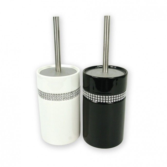 Diamante Toilet Brush Set | Poundstretcher
