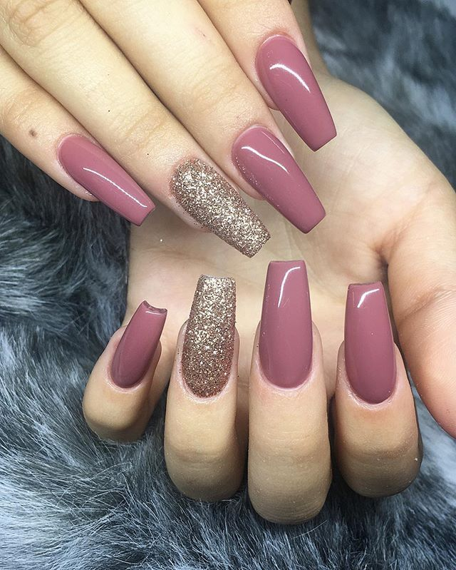 Sculpted Full Sets Colo Shellac Nail Designs Simple Fall Nails Mauve Nails