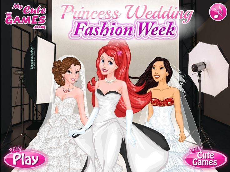 Księżniczki biorą udział w modowym weekendzie, na których prezentowane są najciekawsze suknie ślubne. W rolę modelek wcieliły się właśnie pięknie dziewczyny z bajek Disneya  http://www.ubieranki.eu/ubieranki/10244/targi-slubne.html