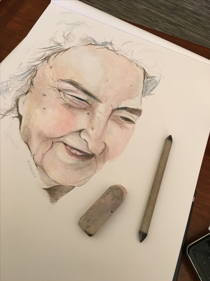 Portrait of Great Aunt - Nora. She recently celebrated her 91st birthday.