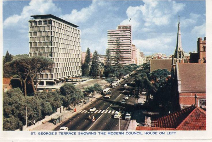 Saint Georges Terrace, Perth, 1960s