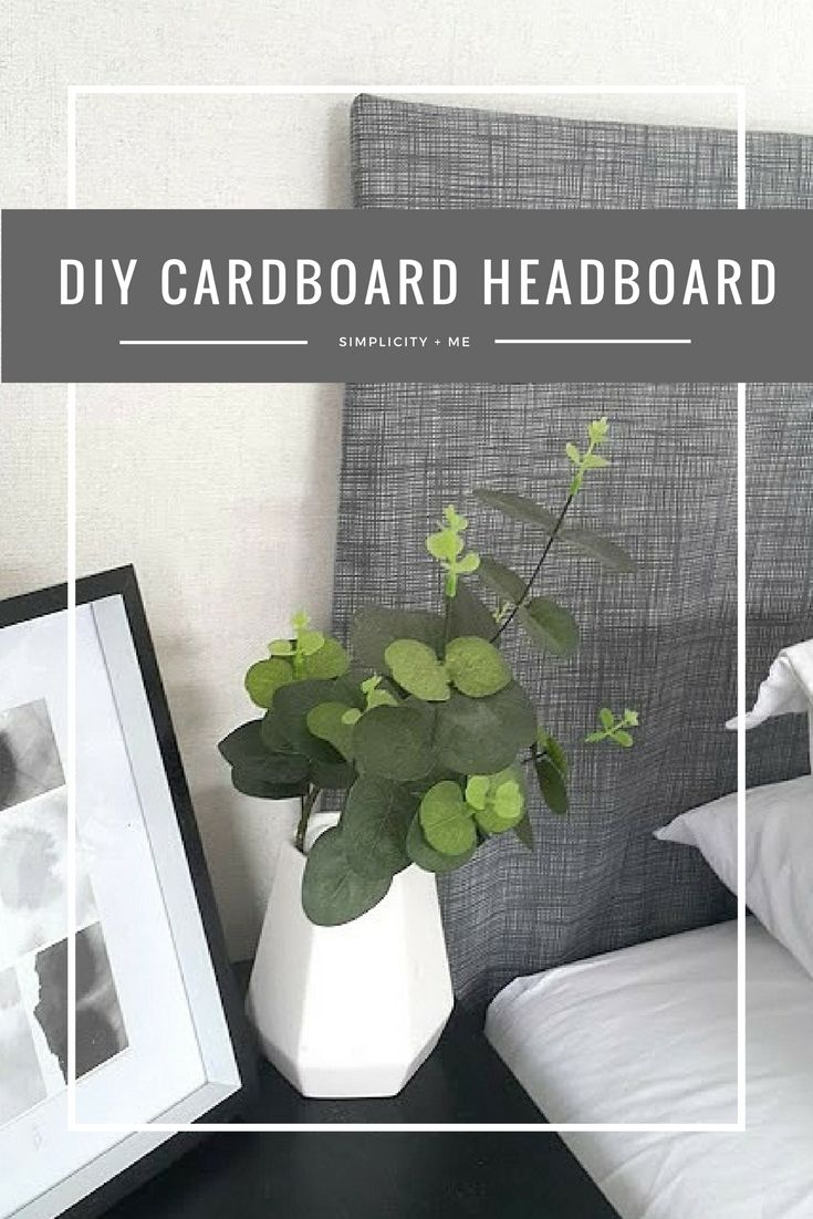 such a great idea to use a cardboard as a space saver to decide what size/shape/style headboard you want/need!