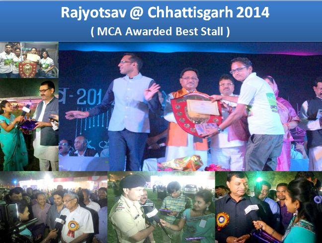 In Rajyotsav @Chhattisgarh 2014 #MyCityApp #Awarded #BestStall