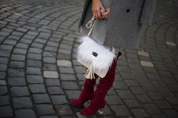 #bag #leaher #handmade #burgundy #streetstyle #style #overtheknee #boots #croptop #lifestyle #grey #white #furfaux