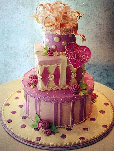 Pink and white presents ~ One of the most beautiful cake companies I have ever seen.