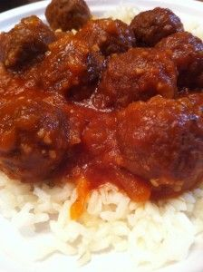 Crockpot Meatballs » The Post- Great meatball sauce recipe!