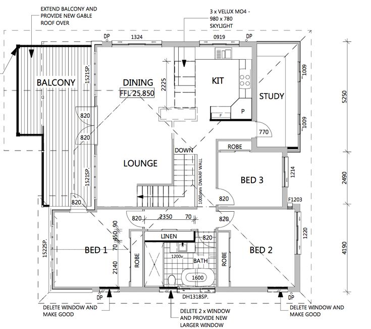 The Upstairs Floor Plan - I'm focusing on getting things moving in the bathroom.