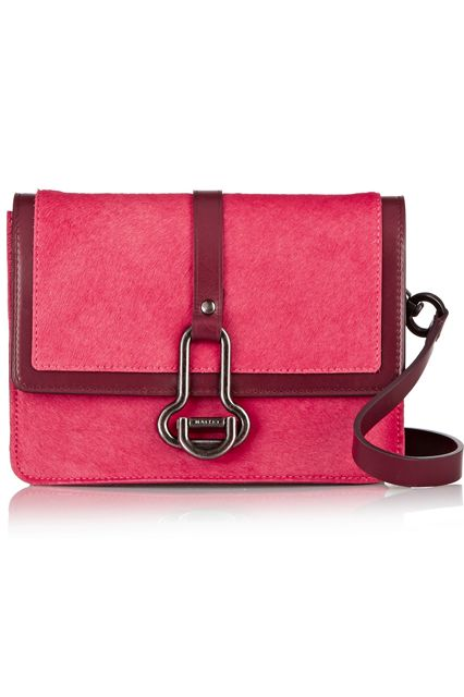 29 Crossbody Bags For Festival Season & Beyond #refinery29  http://www.refinery29.com/cute-crossbody-bags#slide-23  Bright pink and merlot: two of our favorite things, together in one beautifully elegant bag.